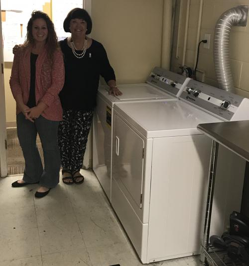 Christy Hamby of the Extension and Rene Lanier of RCMM with new Washer and Dryer.jpg